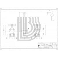 Смеситель для умывальника Bianchi Amelix LVBAML110500  (в стену)