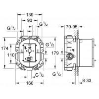 Внутренний блок Grohe Rapido T 35500000