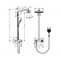Душевая система Hansgrohe Raindance Select E 300 2jet Showerpipe 27126400