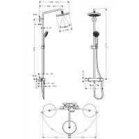 Душевая система Hansgrohe Croma 220 Showerpipe 27185000