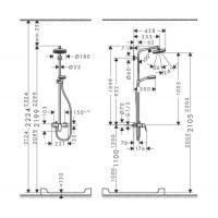 Душевая система Hansgrohe Crometta 160 1jet Showerpipe 27266400