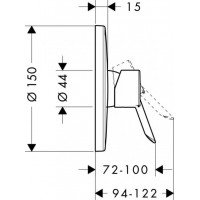 Смеситель для душа Hansgrohe Focus S 31763000