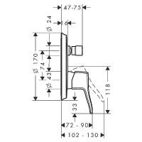 Смеситель для ванны Hansgrohe Metris Classic 31485000