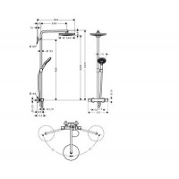 Душевая система Hansgrohe Raindance Select S 240 2jet Showerpipe 27129400
