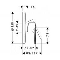 Смеситель для душа Hansgrohe Talis E2 31666000