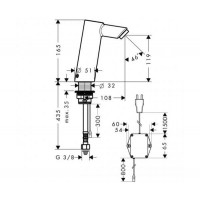 Смеситель для умывальника Hansgrohe Talis 32112000