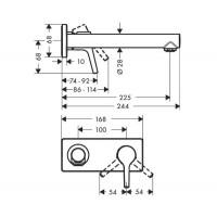 Смеситель для умывальника Hansgrohe Talis S 72111000
