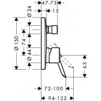 Смеситель для ванны Hansgrohe Focus S 31743000