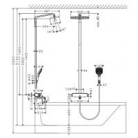 Душевая система Hansgrohe Raindance Select E 360 Showerpipe 27113000