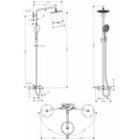 Душевая система Hansgrohe Raindance Select S 240 Showerpipe 27117000