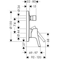 Смеситель для ванны Hansgrohe Talis S 72405000