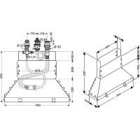 Нижний блок на 3 отверстия HANSGROHE  13437180