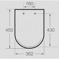 Крышка для унитаза Roca Meridian-N A8012A2004 (Soft Close)