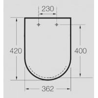 Крышка для унитаза Roca Meridian-N Compacto A8012AC004 (Soft Close)