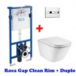 Инсталляция Roca Pro 89009000K + унитаз Roca Gap Rimless A34H47C000  (Soft Close)