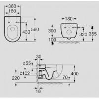 Унитаз подвесной Roca Meridian-N A346247000