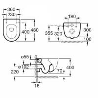 Унитаз подвесной Roca Meridian-N Compacto A34H248000