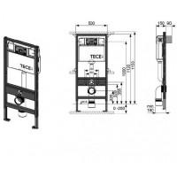 Инсталляция Tece 9400005 + унитаз Villeroy&Boch Omnia Architectura Directflush 5684HR01
