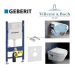 Инсталляция Geberit 458.126.00.1 + унитаз Villeroy&Boch Omnia Architectura Directflush 5684HRO1