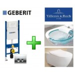 Инсталляция Geberit 458.161.21.1 + унитаз Villeroy&Boch Subway 2.0 Direct Flush 5614R201