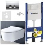 Инсталляция Geberit 458.161.21.1 + унитаз Villeroy&Boch Avento Direct Flush 5656RS01 (SLIM Soft Close )