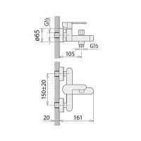 Смесители для ванны Welle Ernest AR23218D
