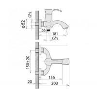 Смесители для ванны Welle Odelia BE23202RC-H21155-CN1303