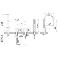 Смесители для ванны Welle Leon QA28174D