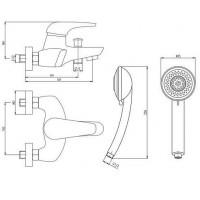Смеситель для ванны DEANTE  Jaguar BDX 011M