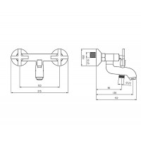 Смеситель для ванны DEANTE Lucerna BEL 010D