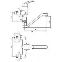 Смеситель для ванны DEANTE Taga BFT 056M