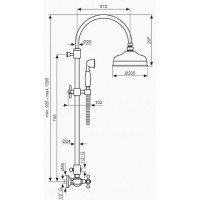 Душевая система Emmevi Deco Classic BR1200281
