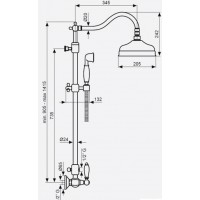 Душевая система для ванны Emmevi Deco Ceramica OR12161181