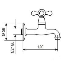 Кран для кухни Emmevi Deco Classic BR12006 (одна вода)
