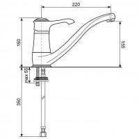 Смеситель для кухни Emmevi Tiffany SC6095