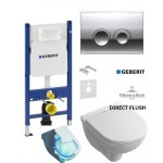 Инсталляция Geberit 458.161.21.1 + унитаз Villeroy&Boch O.Novo Direct Flush 5660HR01