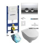 Инсталляция Geberit 458.161.21.1 + унитаз Villeroy&Boch O.Novo Direct Flush 5660HR01