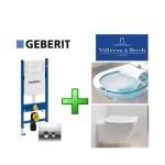 Инсталляция Geberit 458.161.21.1 + унитаз Villeroy&Boch  Venticello Direct Flush 4611R001