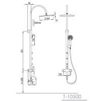 Душевая система Imprese NAHORU T-10500