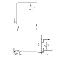 Душевая система Imprese BILA Desne T-10155