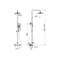 Душевая система Imprese CENTRUM T-15410