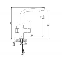 Смеситель для кухни Imprese DAICY 55009-F