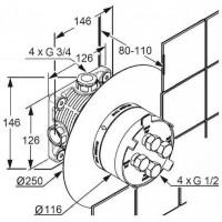 Внутренний блок Kludi Flexx Boxx 88011