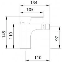 Смеситель для биде Koller Pool Round ARC RA0300