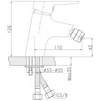 Смеситель для биде Koller Pool Twin TN0300