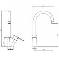 Смеситель на кухню Koller Pool Kvadro ARC KA0500