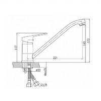 Смеситель на кухню Koller Pool Kvadro KR0900