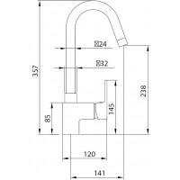 Смеситель для кухни Koller Pool Round ARC RA0500
