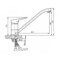 Смеситель для кухни Koller Pool Twin TN0900