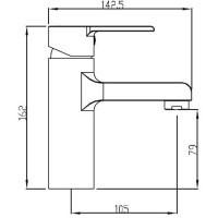 Смеситель для умывальника Koller Pool Kvadro ARC KA0200